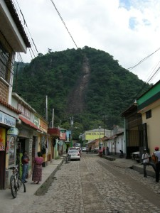 path of the rockslide