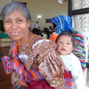 Grandmother with baby Mayan Highlands