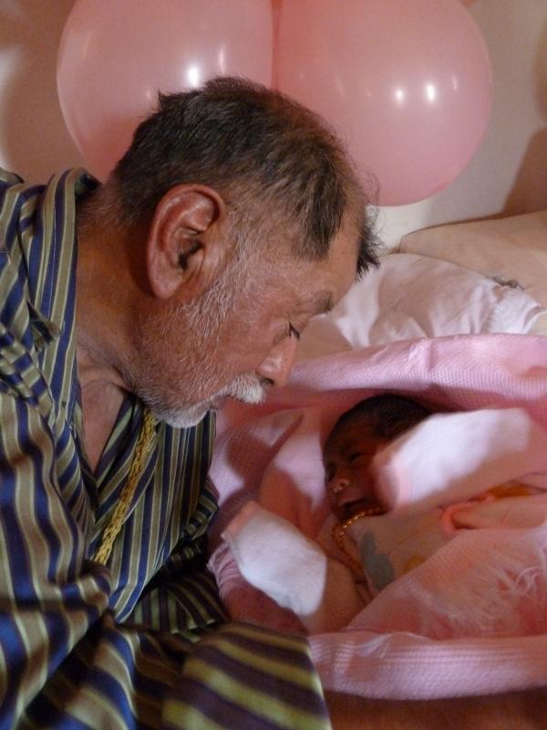 GrandPa beholds granddaughter