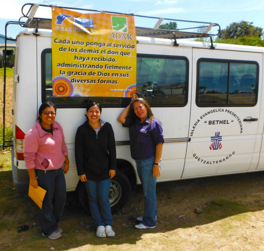 L->R /vice President, President, Gaby Calderon, Altagracia Hernandez of Feed the Children celebrate successful Jornada.